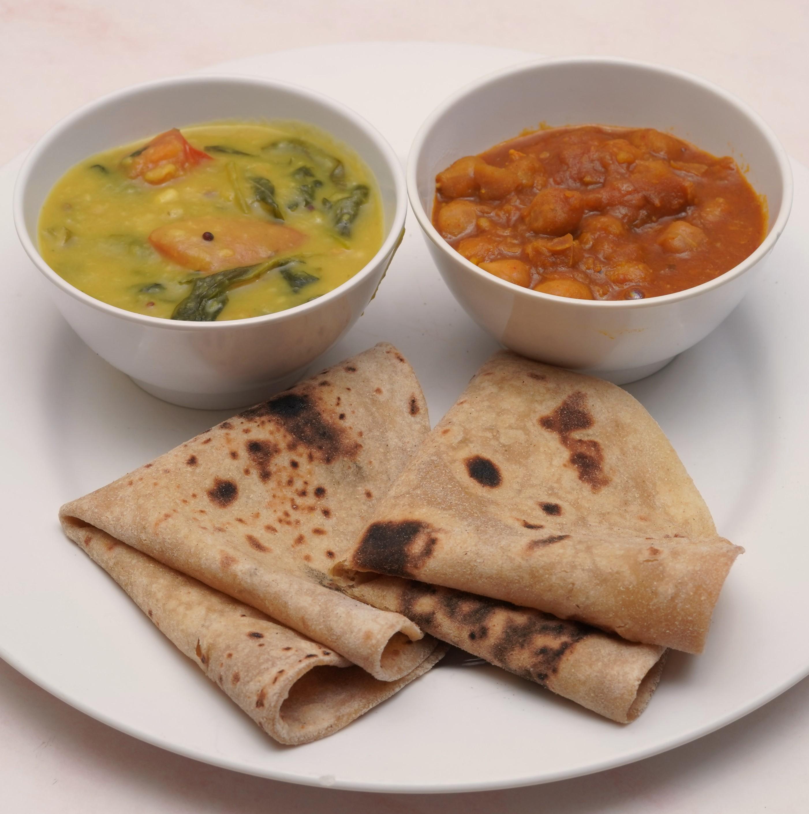 Chapati(3pcs with channa & veg)